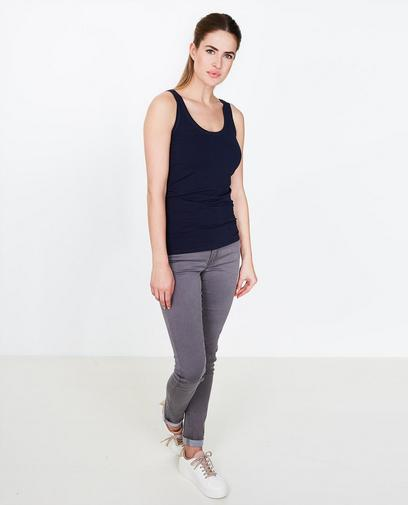 Donkerblauwe basic top